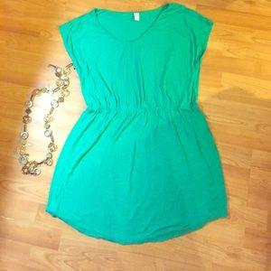 Old Navy XL green mini dress